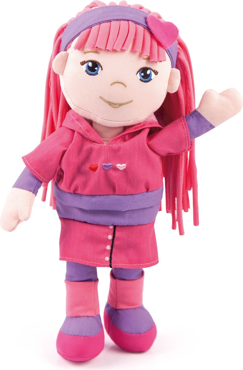 Bayer Design Мягкая кукла Мила цвет розовый голубой 93044 - Куклы и аксессуары
