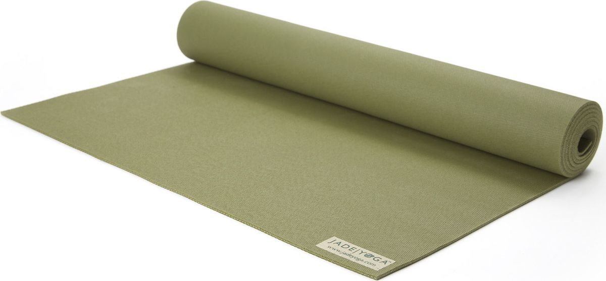 Коврик для йоги Jade Harmony, цвет: оливковый, 173 х 60 х 0,5 смJ19Коврик для йоги Jade Jade Harmony - это незаменимый аксессуар для любого спортсмена как во время тренировки, так и во время пре-стретчинга (растяжки до тренировки) и стретчинга (растяжки после тренировки). Выполнен из высококачественного каучука. Не скользит даже в условиях высокой влажности. Коврик используется в фитнесе, йоге, функциональном тренинге. Его используют спортсмены различных видов спорта в своем тренировочном процессе. Предпочтительно использовать без обуви. Если в обуви, то с мягкой подошвой, чтобы избежать разрыва поверхности коврика.