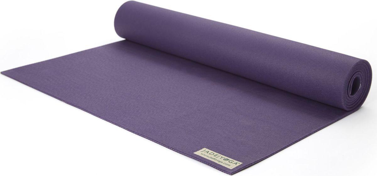 Коврик для йоги Jade Harmony, цвет: фиолетовый, 188 х 60 х 0,5 смAYM-01 bКоврик для йоги Jade Harmony - это незаменимый аксессуар для любого спортсмена как во время тренировки, так и во время пре-стретчинга (растяжки до тренировки) и стретчинга (растяжки после тренировки). Выполнен из высококачественного каучука. Не скользит даже в условиях высокой влажности. Коврик используется в фитнесе, йоге, функциональном тренинге. Его используют спортсмены различных видов спорта в своем тренировочном процессе. Предпочтительно использовать без обуви. Если в обуви, то с мягкой подошвой, чтобы избежать разрыва поверхности коврика.Йога: все, что нужно начинающим и опытным практикам. Статья OZON Гид