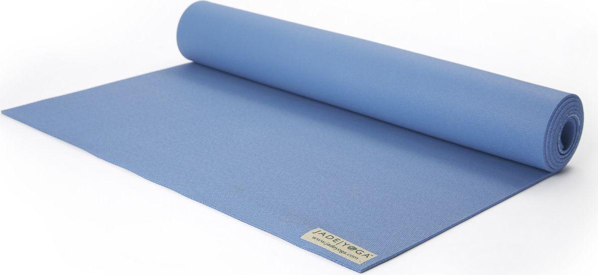 Коврик для йоги Jade Harmony, цвет: голубой, 188 х 60 х 0,5 смJ33Коврик для йоги Jade Jade Harmony - это незаменимый аксессуар для любого спортсмена как во время тренировки, так и во время пре-стретчинга (растяжки до тренировки) и стретчинга (растяжки после тренировки). Выполнен из высококачественного каучука. Не скользит даже в условиях высокой влажности. Коврик используется в фитнесе, йоге, функциональном тренинге. Его используют спортсмены различных видов спорта в своем тренировочном процессе. Предпочтительно использовать без обуви. Если в обуви, то с мягкой подошвой, чтобы избежать разрыва поверхности коврика.