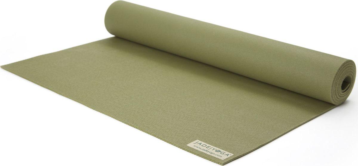 "Коврик для йоги Jade ""Travel"", цвет: оливковый, 173 х 60 х 0,3 см, Jade Industries"