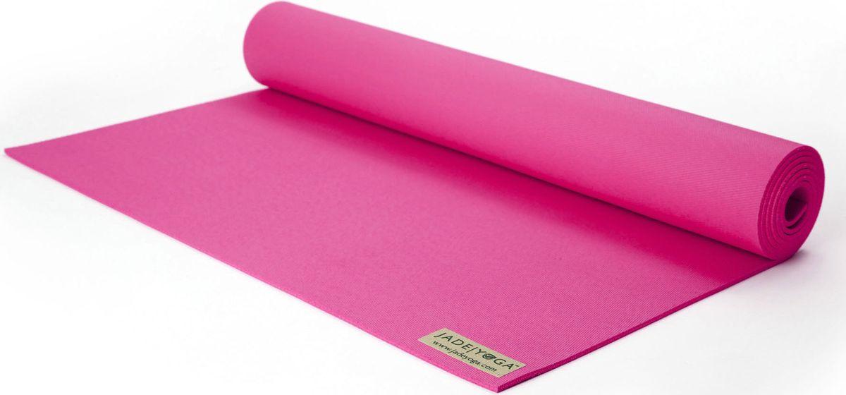 Коврик для йоги Jade Harmony, цвет: розовый, 173 х 60 х 0,5 смJ24Коврик для йоги Jade Jade Harmony - это незаменимый аксессуар для любого спортсмена как во время тренировки, так и во время пре-стретчинга (растяжки до тренировки) и стретчинга (растяжки после тренировки). Выполнен из высококачественного каучука. Не скользит даже в условиях высокой влажности. Коврик используется в фитнесе, йоге, функциональном тренинге. Его используют спортсмены различных видов спорта в своем тренировочном процессе. Предпочтительно использовать без обуви. Если в обуви, то с мягкой подошвой, чтобы избежать разрыва поверхности коврика.