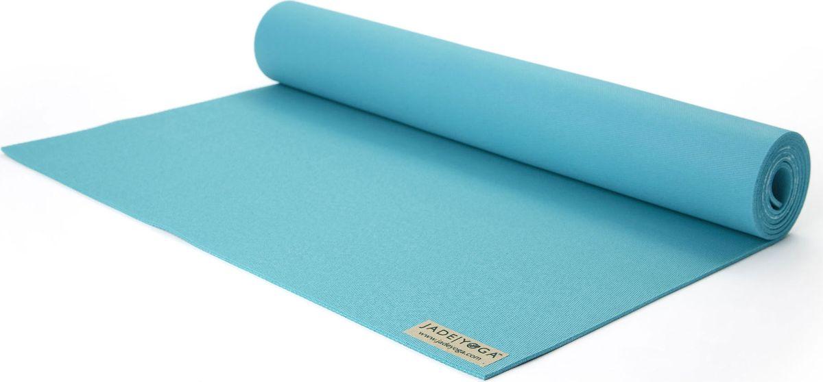 Коврик для йоги Jade Harmony, цвет: бирюзовый, 173 х 60 х 0,5 смJ23Коврик для йоги Jade Jade Harmony - это незаменимый аксессуар для любого спортсмена как во время тренировки, так и во время пре-стретчинга (растяжки до тренировки) и стретчинга (растяжки после тренировки). Выполнен из высококачественного каучука. Не скользит даже в условиях высокой влажности. Коврик используется в фитнесе, йоге, функциональном тренинге. Его используют спортсмены различных видов спорта в своем тренировочном процессе. Предпочтительно использовать без обуви. Если в обуви, то с мягкой подошвой, чтобы избежать разрыва поверхности коврика.Йога: все, что нужно начинающим и опытным практикам. Статья OZON Гид