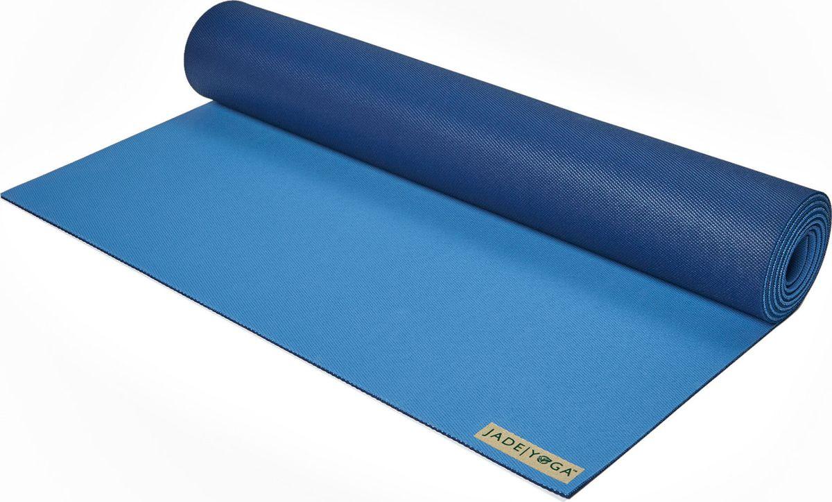 Коврик для йоги Jade  Harmony , цвет: голубой, темно-синий, 180 х 60 х 0,5 см - Инвентарь