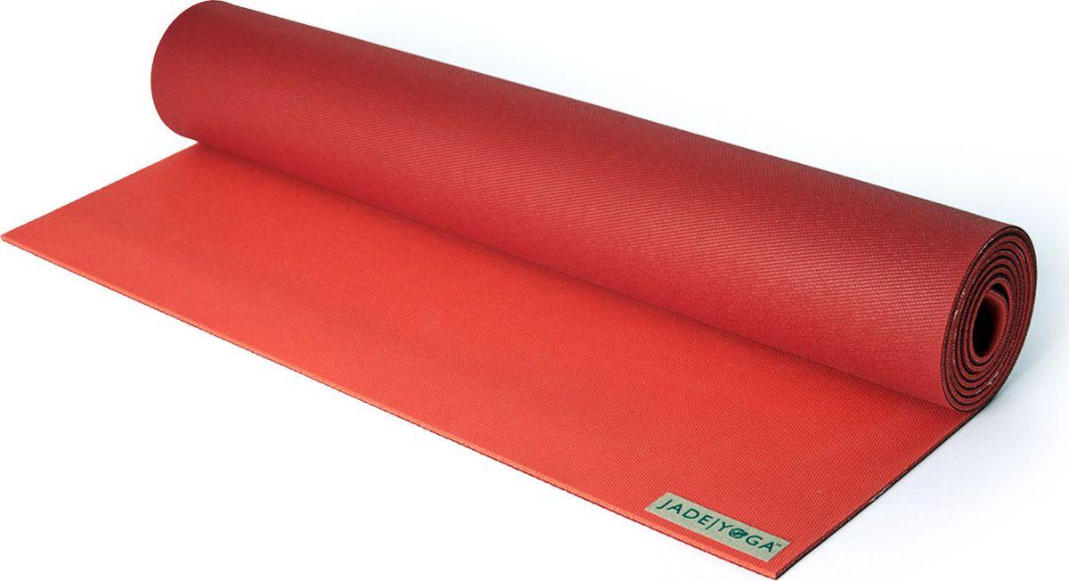 Коврик для йоги Jade Harmony, цвет: красный, 180 х 60 х 0,5 смJ27Коврик для йоги Jade Jade Harmony - это незаменимый аксессуар для любого спортсмена как во время тренировки, так и во время пре-стретчинга (растяжки до тренировки) и стретчинга (растяжки после тренировки). Выполнен из высококачественного каучука. Не скользит даже в условиях высокой влажности. Коврик используется в фитнесе, йоге, функциональном тренинге. Его используют спортсмены различных видов спорта в своем тренировочном процессе. Предпочтительно использовать без обуви. Если в обуви, то с мягкой подошвой, чтобы избежать разрыва поверхности коврика.