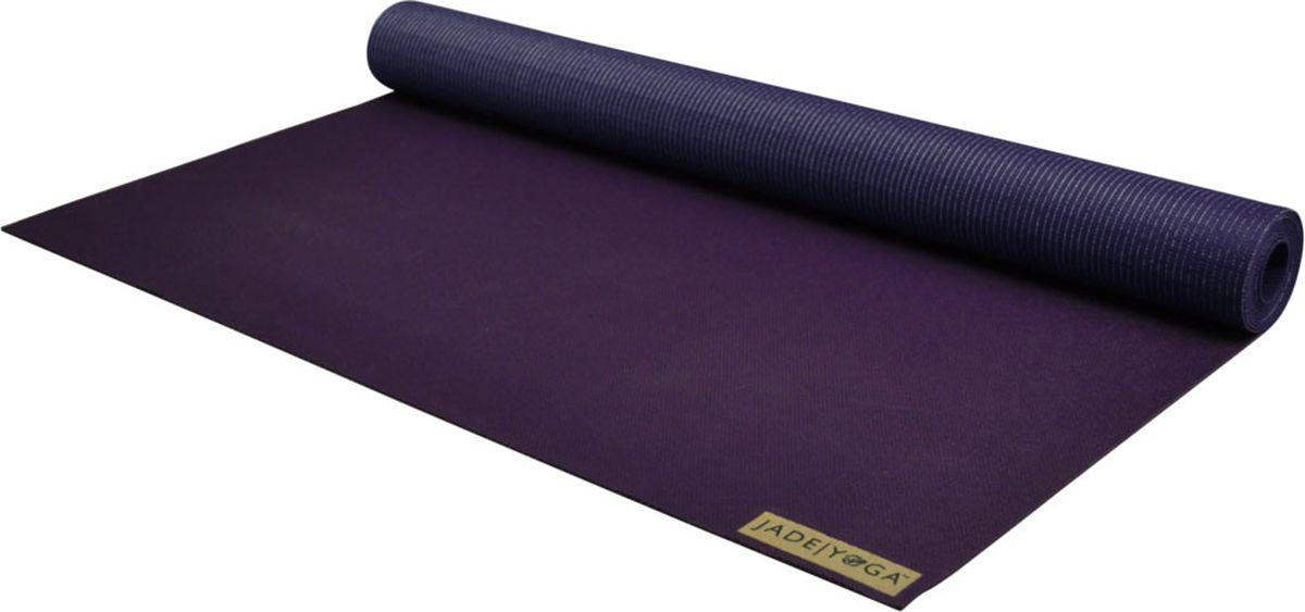 Коврик для йоги Jade Voyager, цвет: фиолетовый, 173 х 60 х 0,16 смJ9СоставКаждый коврик сделан из натурального каучука и не содержит ПВХ, ЭВА и других токсичных и синтетических компонентовКомфортНе скользит даже в условиях высокой влажности. Лучшее сцепление с полом обеспечивает феноменальную устойчивость во время практики. Высокая плотность ковра и тесное соприкосновение с поверхностьюКачествоКаждый коврик произведен в США по всем стандартам ЭКО производства ЭкологияБлаготворительная программа обеспечивает по одному дереву с каждого проданного ковра Jade. Сейчас благодаря Jade посажено более 850 000 деревьев на планете.Размер 0,16?60х173смТолщина 1,6 ммВес 2,3 кг