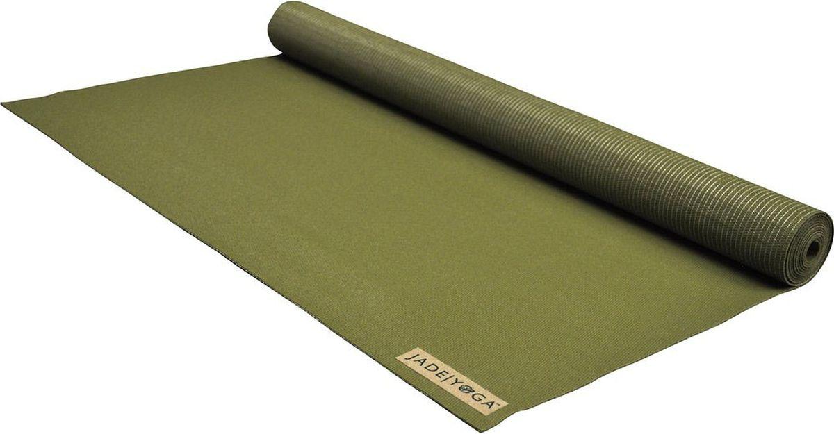 "Коврик для йоги Jade ""Voyager"", цвет: оливковый, 173 х 60 х 0,16 см, Jade Industries"