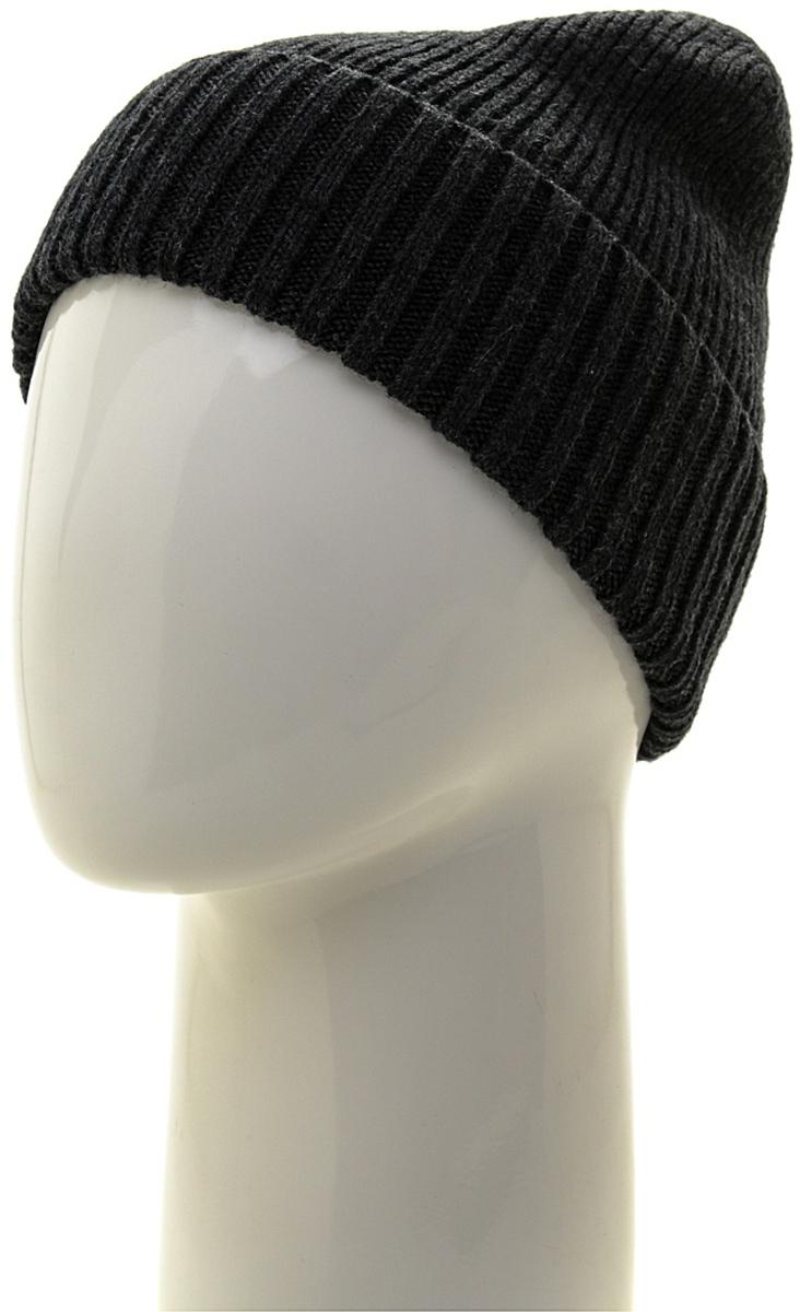Шапка мужская Marhatter, цвет: темно-серый. Размер 57/59. MMH6319MMH6319Замечательная шапка, выполнена из теплого комфортного материала. Идеальный вариант на каждый день.
