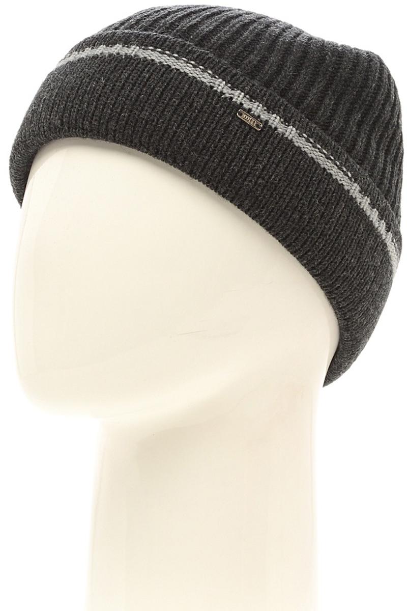 Шапка мужская Marhatter, цвет: темно-серый. Размер 57/59. MMH6721/2MMH6721/2Универсальная шапка, отлично подходит под любой стиль одежды. Сдержанный строгий дизайн, деликатная отделка и классические цвета.