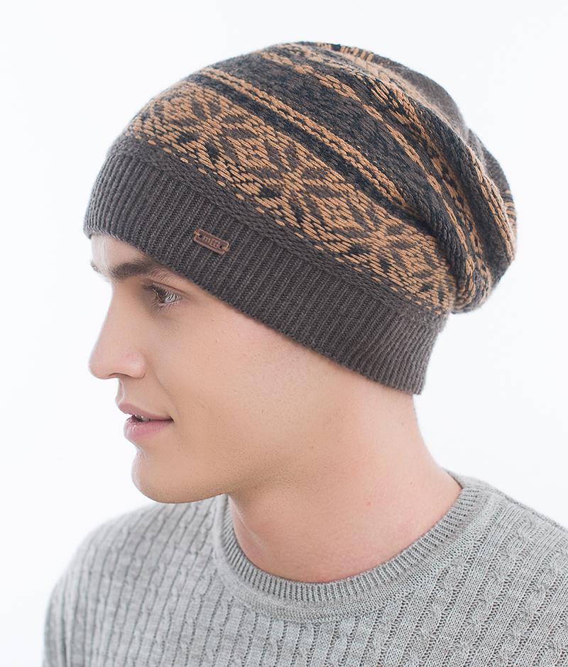 Шапка мужская Marhatter, цвет: темно-серый. Размер 57/59. MMH6723/3MMH6723/3Стильная шапка выполнена из тонкого кашемира. Идеальный вариант на каждый день.