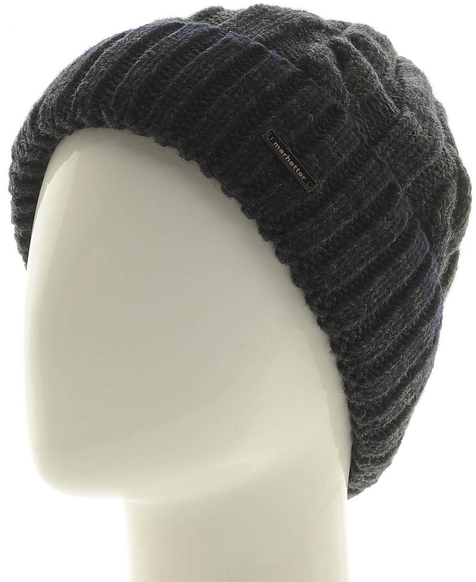 Шапка мужская Marhatter, цвет: темно-серый. Размер 57/59. MMH6954/2MMH6954/2Универсальная шапка, отлично подходит под любой стиль одежды. Сдержанный строгий дизайн, деликатная отделка и классические цвета.