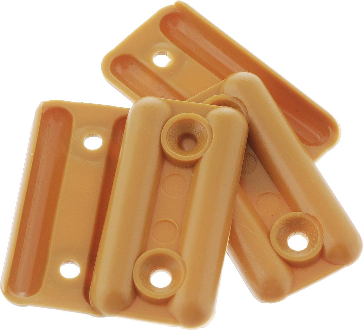 Подпятник для мебели Tech-KREP, цвет: сосна, 4 шт127510Подпятник Tech-KREP изготовлен из прочного пластика. Подпятник применяется для ножек габаритных предметов мебели, конструкции которых имеют большой вес. Благодаря подпятнику удается подкорректировать уровень установки и монтажа мебели. Изделие фиксируется на нижних торцах боковых стенок шкафов, комодов, больших тумб с габаритным весом. Размер: 3,5 х 1,8 см.