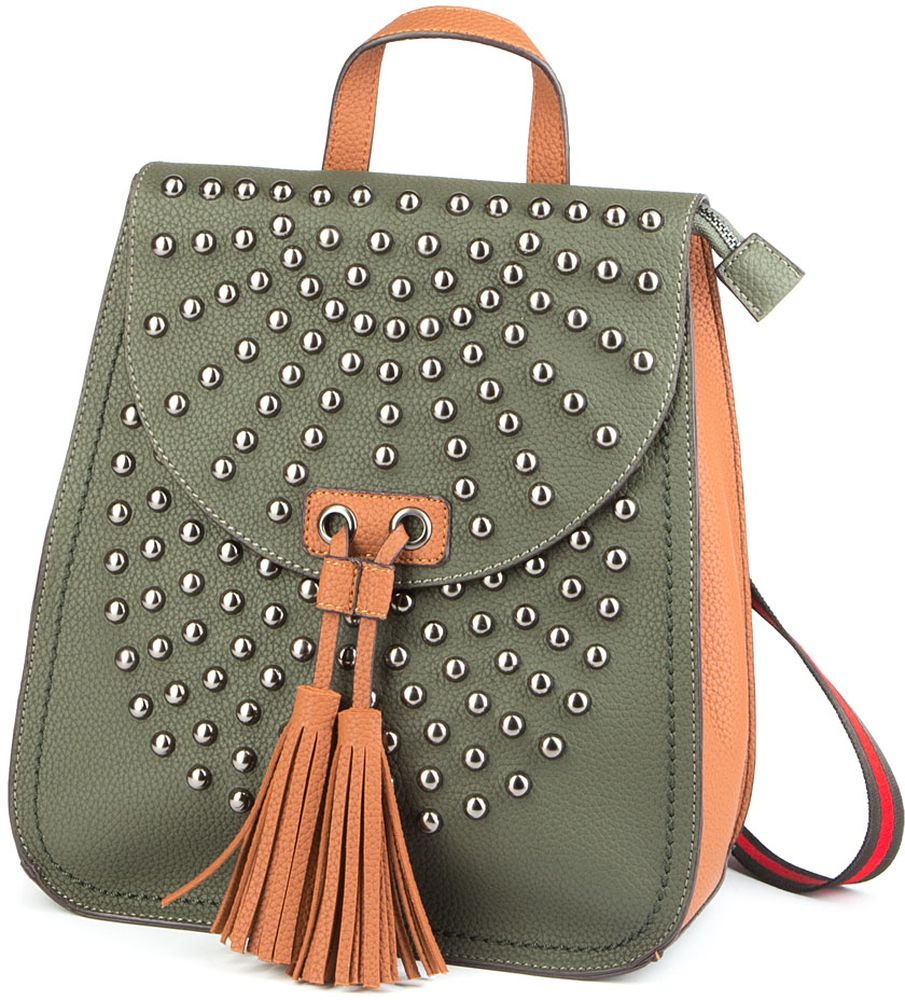 Сумка-рюкзак женская Keddo, цвет: хаки, коричневый. 378101/01-01378101/01-01