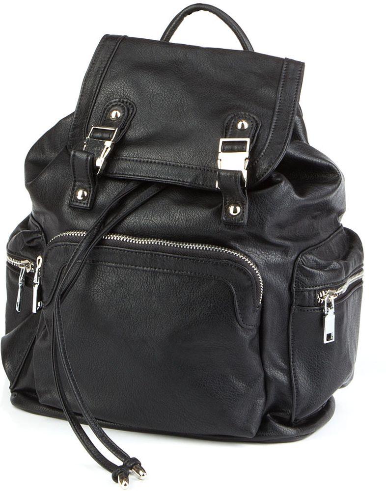 Сумка-рюкзак женская Keddo, цвет: черный. 378152/03-01378152/03-01Стильная женская сумка-рюкзак Keddoвыполнена из искусственной кожи. Сумка-рюкзак застегивается на клапан с застежками и имеет одно вместительное отделение. Спереди и по бокам расположены карманы на молниях. Лямки регулируются по длине. Имеется ручка для переноски.