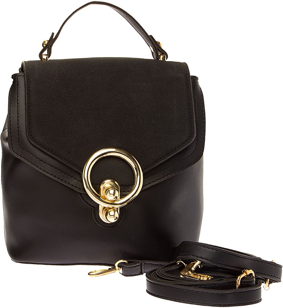 Сумка-рюкзак женская Elisabeth, цвет: черный. 378236/01-01378236/01-01Стильная женская сумка-рюкзак Elisabeth выполнена из искусственной кожи. Сумка-рюкзак застегивается на молнию и клапан и имеет одно вместительное отделение. Внутри расположены карман на молнии и два открытых кармашка. Лямки регулируются по длине. Имеется ручка для переноски и плечевой ремень.