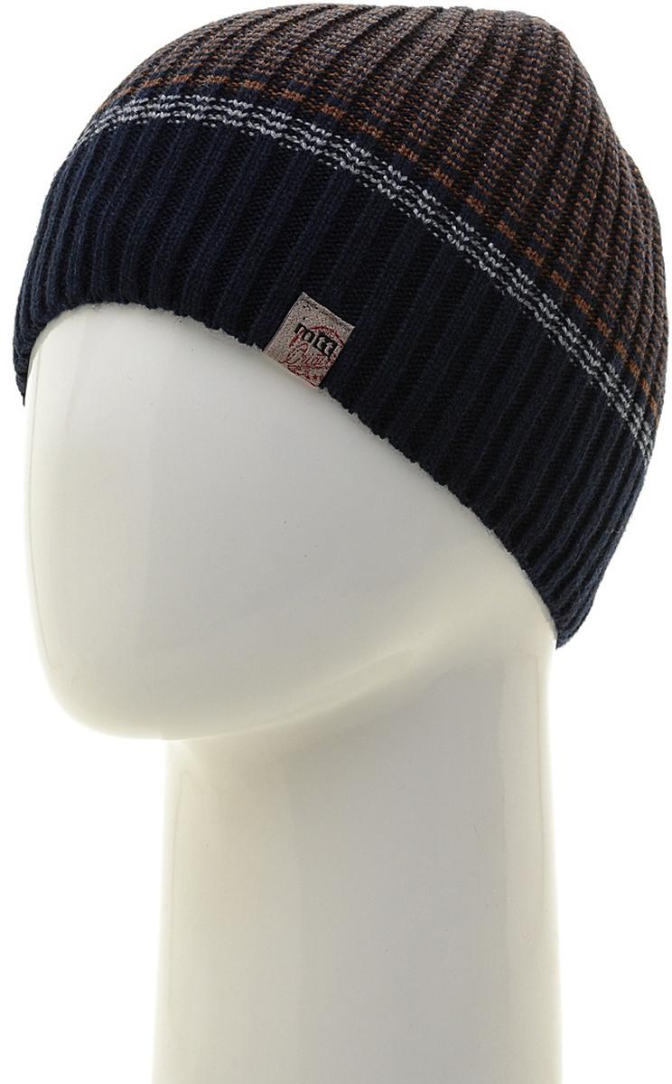 Шапка мужская Marhatter, цвет: темно-синий. Размер 61/63. MMH7184/2MMH7184/2Универсальная шапка, отлично подходит под любой стиль одежды. Сдержанный строгий дизайн, деликатная отделка и классические цвета.