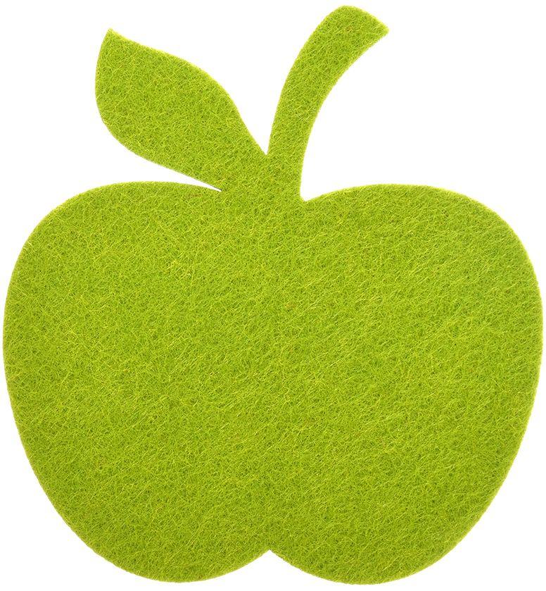 Подставка под горячее Marmiton Яблоко, цвет: зеленый, 11 х 11 см16157Подставка Marmiton изготовлена из фетра в виде яблока. Изделие предназначено для защиты поверхности стола от воздействия высоких температур, механических повреждений и загрязнений.