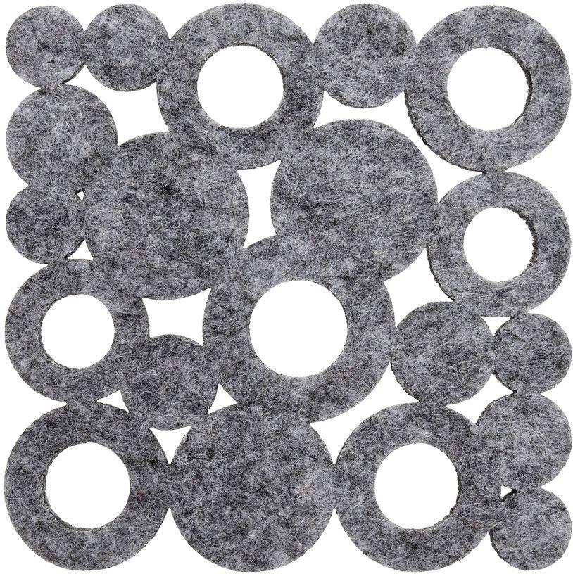"""Подставка под горячее Marmiton """"Пузыри"""" выполнена из фетра. Изделие предназначено для защиты поверхности стола от воздействия высоких температур, механических повреждений и загрязнения. Размер: 11 х 11 см."""