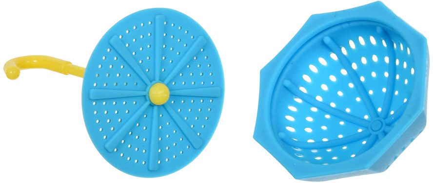 Ситечко для заваривания чая Marmiton Зонтик, цвет: голубой, 9,5 х 5,5 см16178Ситечко Marmiton Зонтик выполнено из силикона в виде зонтика. Изделие предназначено для заваривания чая. Материал устойчив к фруктовым кислотам, к воздействию низких и высоких температур. Не взаимодействует с продуктами питания и не впитывает запахи. Можно мыть и сушить в посудомоечной машине.