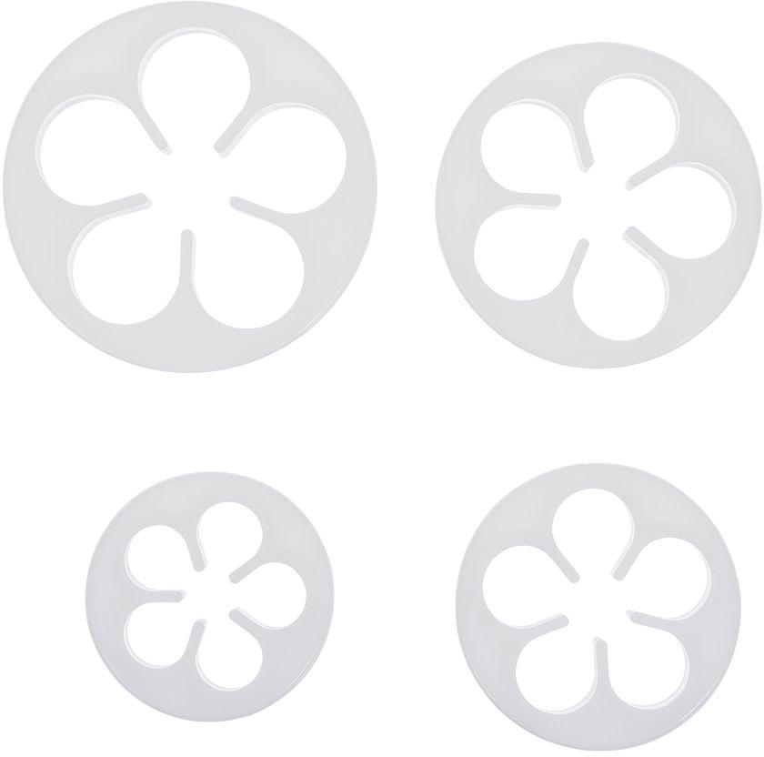 Формочки для печенья и марципана Marmiton Цветочки, 4 шт формочки для печенья zenker