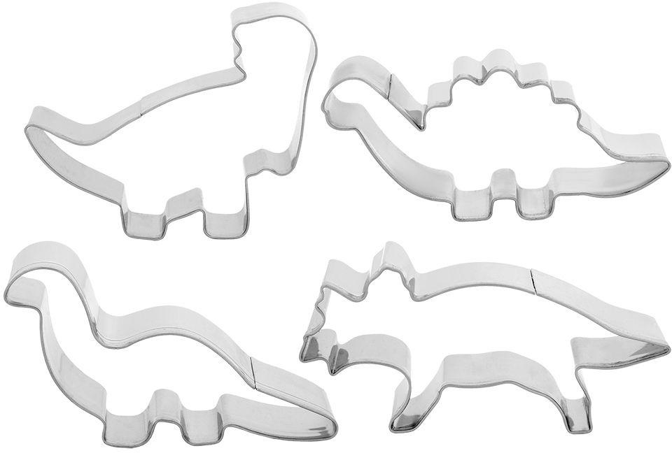 Формочки для печенья Marmiton Динозаврики, 8-10 см, 4 шт17062Формочки Marmiton прекрасно подходят для легкого вырезания печенья из песочного, пряничного теста и теста для печенья.В состав набора входит4 формочки разной конфигурации.Условия хранения: рекомендуется хранить в сухом месте.Срок годности: не ограничен.Материал: сталь нержавеющая.