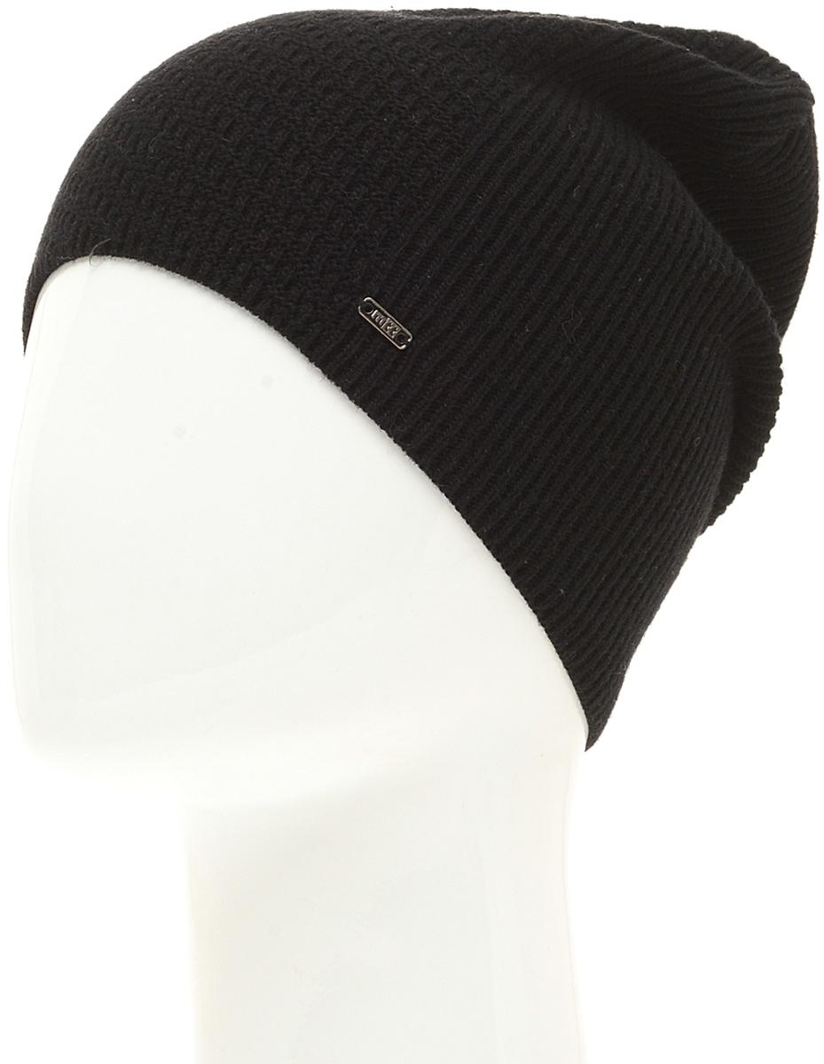 Шапка мужская Marhatter, цвет: черный. Размер 57/59. MMH6574/2MMH6574/2Стильная шапка выполнена из тонкого кашемира и утеплена флисом. Идеальный вариант на каждый день.