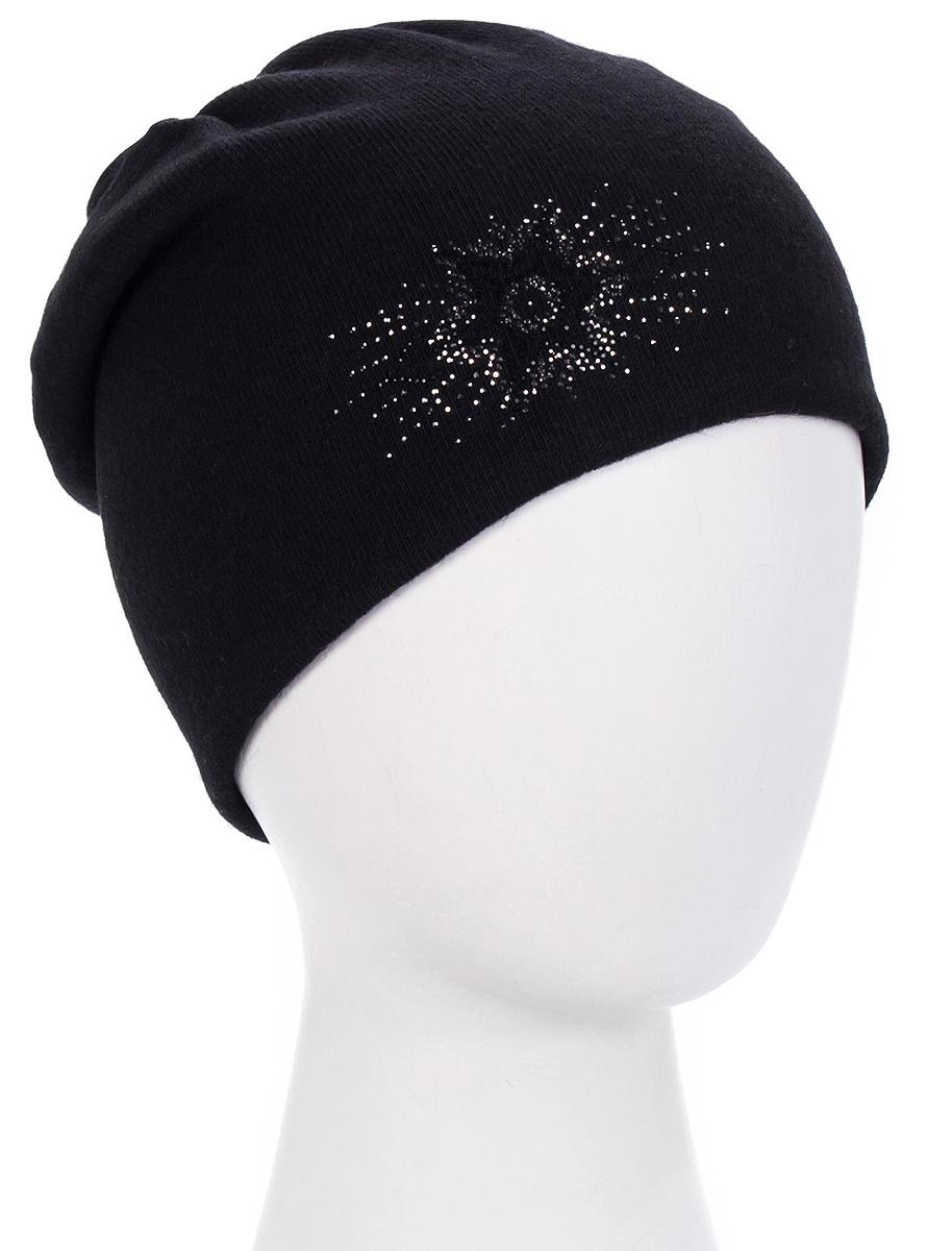 Шапка женская Level Pro Флорант, цвет: черный. 999355. Размер 56/58999355Женская шапка Level Pro Флорант изготовлена из высококачественной пряжи. Подкладка модели выполнена из мягкого флиса. Изделие оформлено красивым узором из стразов.