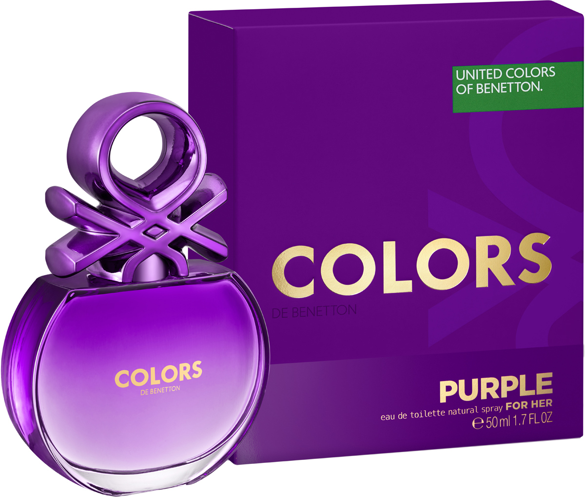 Benetton Colors Purple Туалетная вода женская, 50 мл benetton colors purple 50 мл benetton benetton colors purple 50 мл