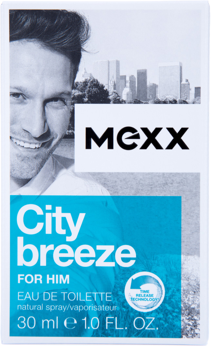Mexx City Breeze Man Туалетная вода мужская, 30 мл8005610291390Жизнь в большом городе похожа на захватывающее приключение, но иногда городская суета угнетает. Mexx City Breeze, как глоток свежего воздуха, позволяет вырваться из городского стресса. Наслаждаясь захватывающей городской панорамой с высоты птичьего полета, почувствуй City Breeze.