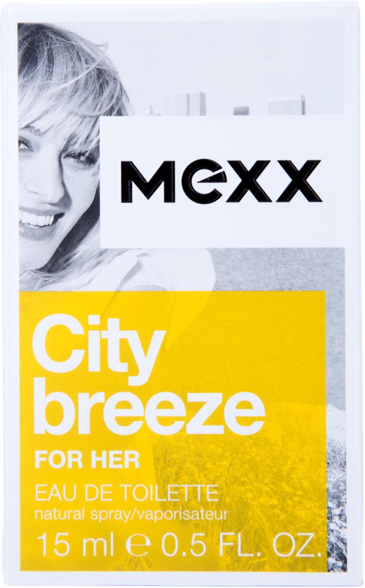 Mexx City Breeze Woman Туалетная вода женская, 15 млн8005610291642Жизнь в большом городе похожа на захватывающее приключение, но иногда городская суета угнетает. Mexx City Breeze, как глоток свежего воздуха, позволяет вырваться из городского стресса. Наслаждаясь захватывающей городской панорамой с высоты птичьего полета, почувствуй City Breeze.