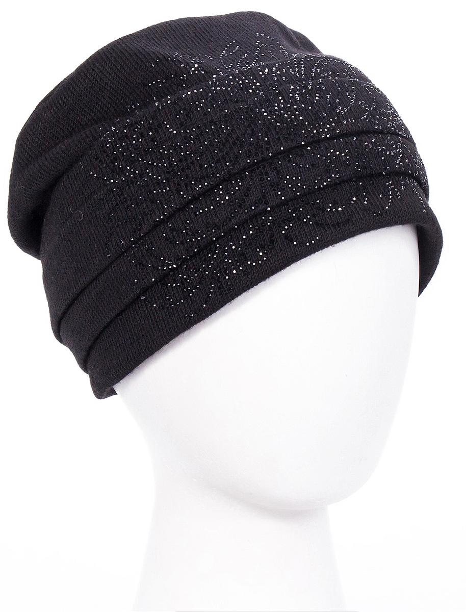 Шапка женская Level Pro Вальс 2, цвет: черный. 995934. Размер 56/58995934Женская шапка Level Pro Вальс 2 изготовлена из высококачественной пряжи с содержанием шерсти. Подкладка модели выполнена из флиса. Изделие оформлено красивым узором из стразов.
