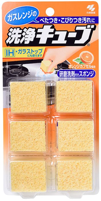 Набор губок для уборкиKobayashi, с апельсиновым маслом, 6 шт01715kbУниверсальная губка Kobayashi очищает любые поверхности (кроме лакированных и окрашенных) и особенно незаменима для кухни. Губка выполнена из нейлона, полиэстера и полиэтилена. Одна губка чистит все - от плиты, гриля и стен до раковины и кухонной утвари. Оказывает двойной эффект - одновременно очищает и полирует поверхность. Губку очень удобно держать в руке благодаря ее оптимальному размеру. Обладает освежающим ароматом апельсина.- Очиститель на основе апельсинового масла очищает жирные пятна.- Полирующий материал прекрасно справляется с трудными пятнами.