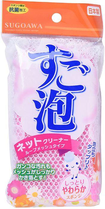 Губка для мытья посуды Towa Sugoawa, в сетке, цвет: розовый12758twГубка для мытья посуды в сетке. Образует обильную пену и удерживает её. Имеет антибактериальную обработку поверхности. Губка изготовлена из полиэстера, а сетка из полиуретана. Губка для мытья посуды станет незаменимым помощником на вашей кухне.
