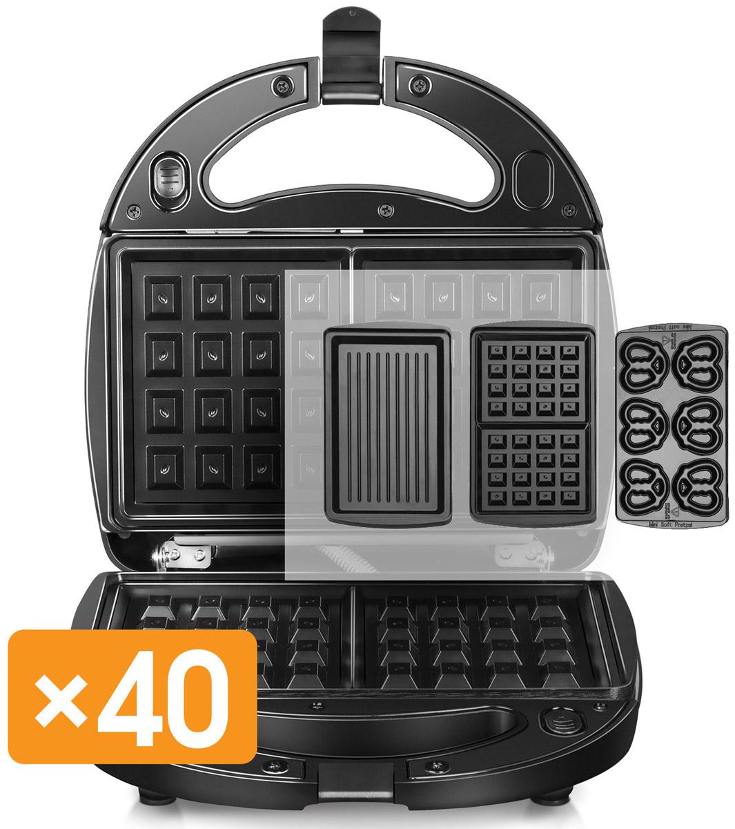 Redmond RMB-M604, Black мультипекарьRMB-M604Мультипекарь Redmond RMB-M604 – универсальное многофункциональное устройство, заменяющее вафельницу, омлетницу, гриль, пончик-мейкер, кексницу, бутербродницу и множество других приборов для выпечки или жарки.Достаточно просто поменять пресс-форму, и вы получите новое устройство для приготовления популярного блюда! Ароматное печенье, крекеры, сочни или омлет с итальянскими травами, пицца, пряничный домик для детского праздника, горячие бутерброды или овощи-гриль для гарнира – все это мультипекарь приготовит в считанные минуты!Мультипекарь – это не просто домашняя выпечка, горячие блюда и закуски; это здоровое питание для вас и ваших близких! Ведь с мультипекарем вы готовите сами: из свежих продуктов и без вредных пищевых добавок.Выбор панелей для мультипекаря будет расширяться – вы будете радовать себя и близких все новыми и новыми кулинарными шедеврами из самых разных кухонь мира!Более 25 сменных панелей для выпечки. Панели, не входящие в комплектацию Мультипекаря, приобретаются отдельно.