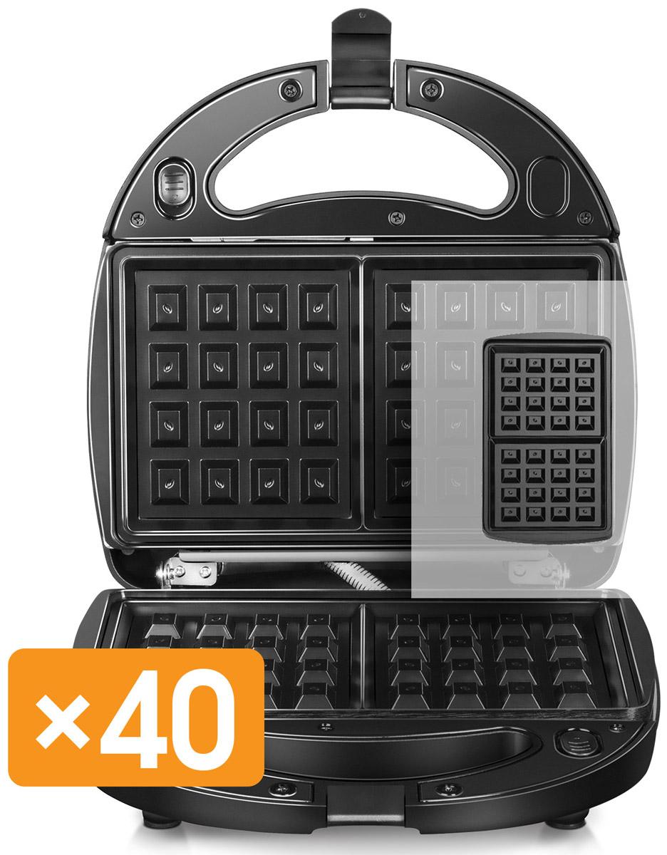 Redmond RMB-M613/1, Black мультипекарьRMB-M613/1Мультипекарь Redmond RMB-M613/1 40 в 1 - это универсальное многофункциональное устройство, заменяющеевафельницу, омлетницу, гриль, пончик-мейкер, кексницу, бутербродницу и множество других приборов длявыпечки или жарки. Достаточно просто поменять пресс-форму, и вы получите новое устройство для приготовления популярногоблюда! Ароматное печенье, крекеры, сочни или омлет с итальянскими травами, пицца, пряничный домик длядетского праздника, горячие бутерброды или овощи-гриль для гарнира - все это мультипекарь приготовит всчитанные минуты! Мультипекарь - это не просто домашняя выпечка, горячие блюда и закуски; это здоровое питание для вас и вашихблизких! Ведь с мультипекарем вы готовите сами: из свежих продуктов и без вредных пищевых добавок. Выбор панелей для мультипекаря будет расширяться - вы будете радовать себя и близких все новыми и новымикулинарными шедеврами из самых разных кухонь мира! Мультипекарь Redmond - здоровая выпечка для вас и ваших детей каждый день!