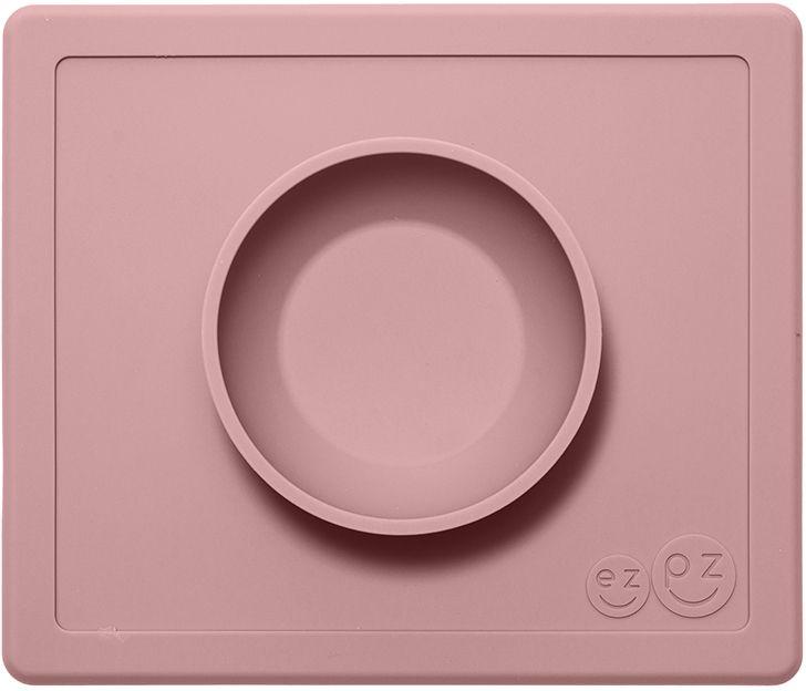 Ezpz Тарелка детская Happy Bowl цвет нежно-розовыйPKHBB005Силиконовая тарелка-плейсмат, которую невозможно перевернуть. Чаша высотой почти 4 см и объемом 240 мл идеально подходит для завтраков и обедов. Область плейсмата не дает ребенку испачкать стол. Тарелка изготовлена из силикона высочайшего качества, не имеет липучек или присосок - фиксация происходит на любой ровной горизонтальной поверхности за счет плоской поверхности мата. Подходит для использования в микроволновке и посудомоечной машине, также, подходит к некоторым стульчикам для кормления.