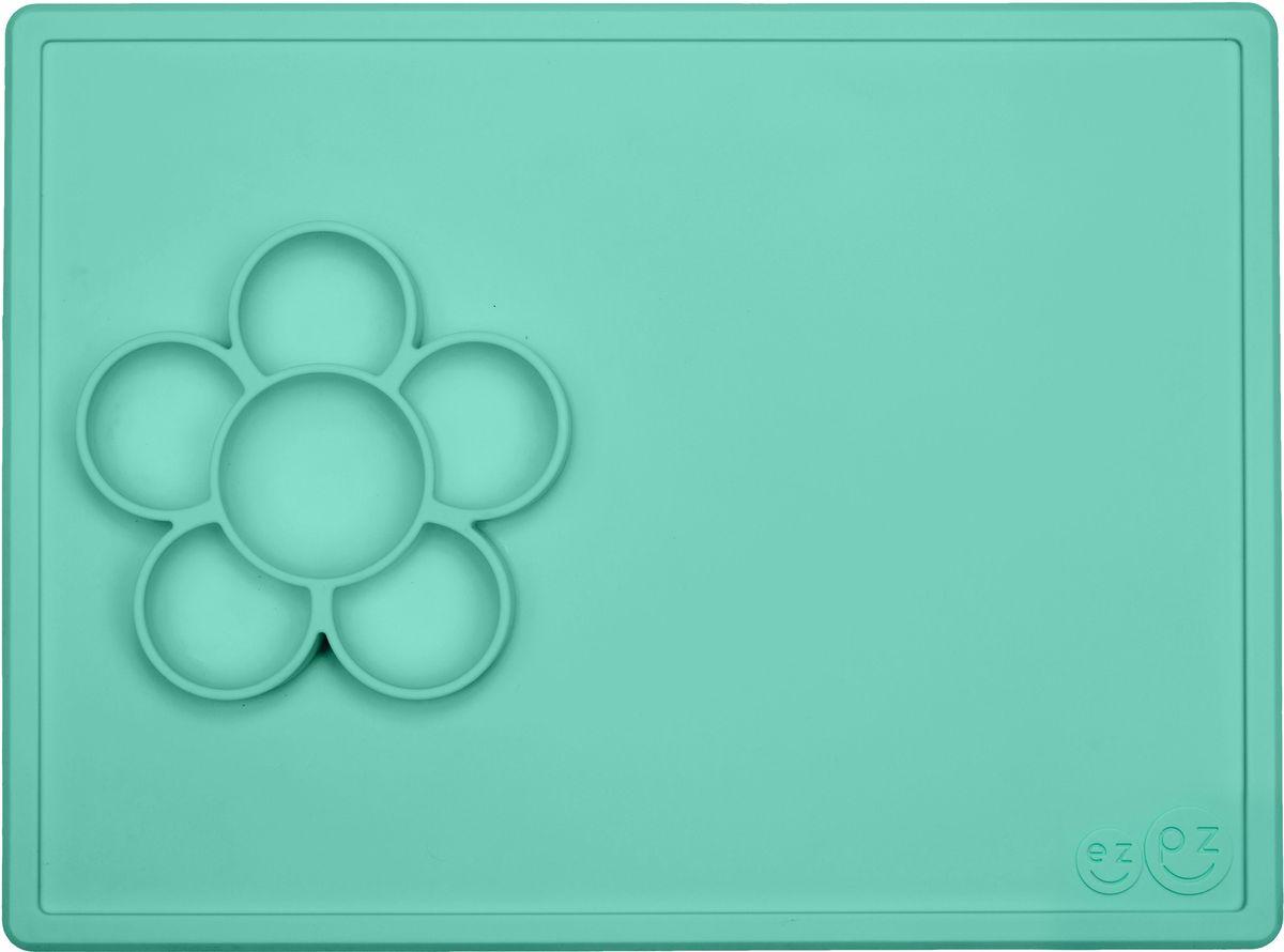 Ezpz Тарелка детская Play Mat цвет мятныйPKPMM001Play Mat - лучшее решение для игры и творчества! Play Mat - это тарелочка-цветок + плейсмат из высококачественного силикона. Изделие плотно прилегает к столу, идеально подходит для рисования, сортировки фигурок Лего, бисероплетения, изготовления ожерелий, рисования маркерами и мелками, украшений для печенья – как захотите! Предназначен для малышей старше 9 месяцев. Развивают мелкую моторику Центр цветка подходит для воды, бусин и других материалов для творчества. Используется вместе с едой Изготовлен из высококачественного силикона,без содержания BPA, BPS, PVC, латекс и фталат Можно использовать в посудомоечной машине, микроволновой печи и духовке (до 350 градусов) Легко хранить Долговечный (силикон гибкий, не выгорает, не разъедает и не изнашивается)