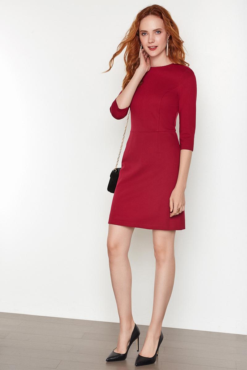Платье женское Concept Club Basy, цвет: бордовый. 10200200341. Размер L (48)10200200341