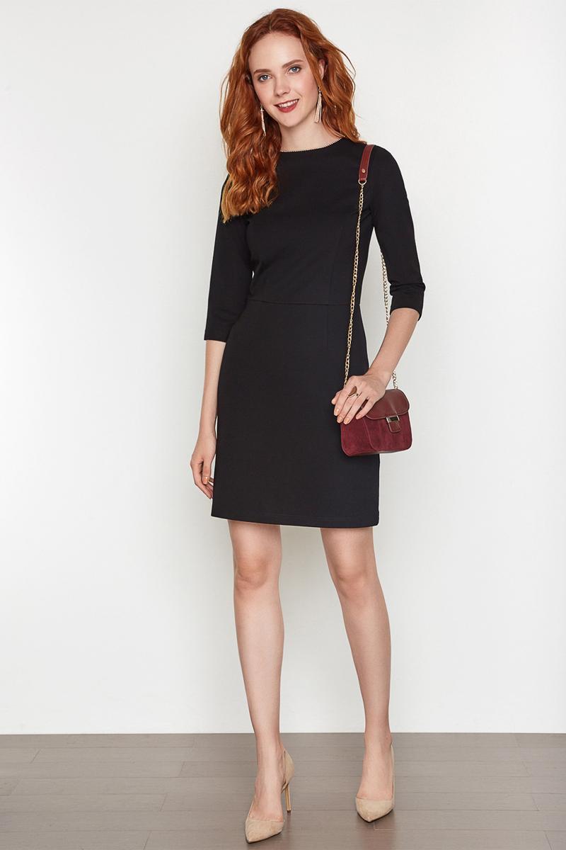 Платье женское Concept Club Basy, цвет: черный. 10200200341. Размер XL (50) платье женское concept club basy цвет черный 10200200341 размер m 46