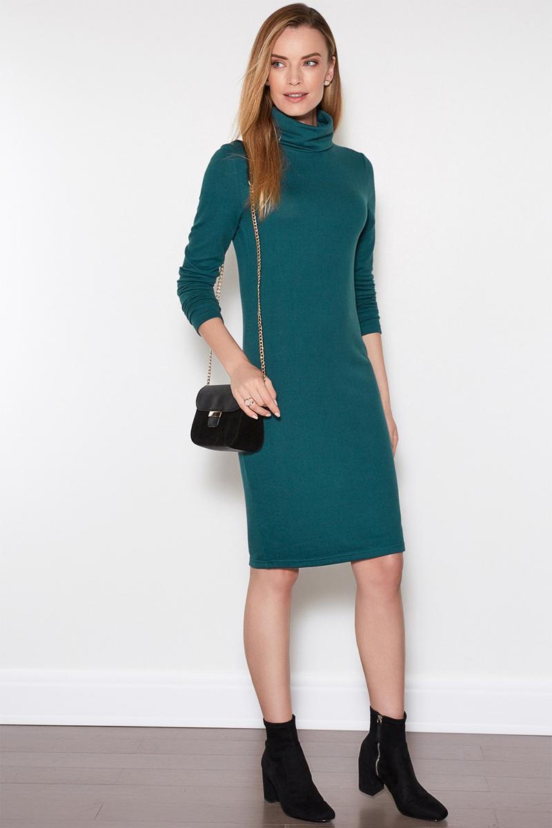 Платье женское Concept Club Porty1, цвет: зеленый. 10200200357. Размер S (44)10200200357Платье Concept Club исполнено из полиэстера с добавлением эластана. Имеет воротник - стойка и длинные рукава. Плотно садится по фигуре.