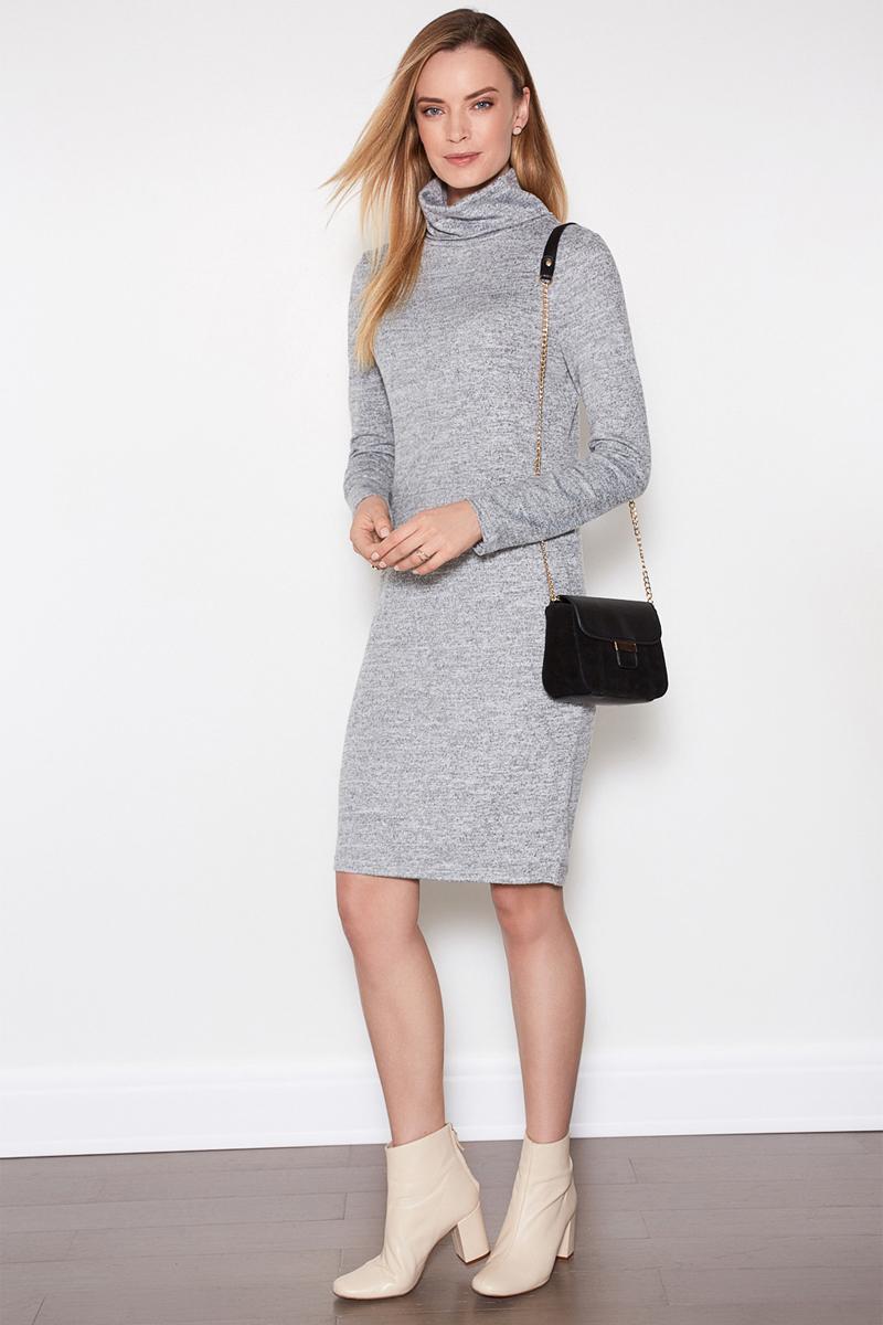 Платье женское Concept Club Porty1, цвет: серый. 10200200357. Размер XL (50)10200200357Платье Concept Club исполнено из полиэстера с добавлением эластана. Имеет воротник - стойка и длинные рукава. Плотно садится по фигуре.
