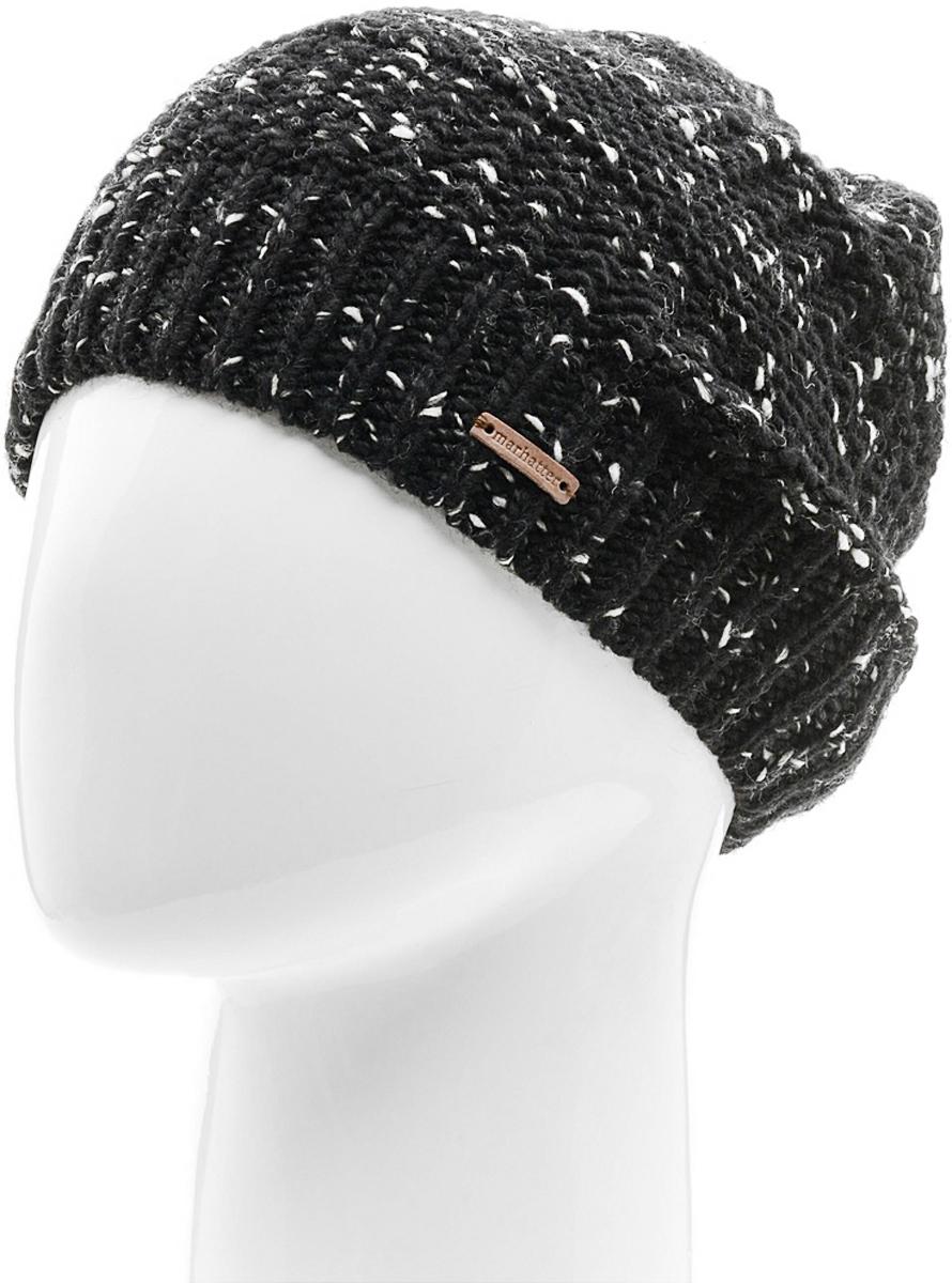 Шапка мужская Marhatter, цвет: черный. Размер 57/59. MMH7127/2MMH7127/2Отличная вязаная шапка в стиле сasual. Модель прекрасно подойдет активным молодым людям, ценящим комфорт и удобство. Идеальный вариант на каждый день.