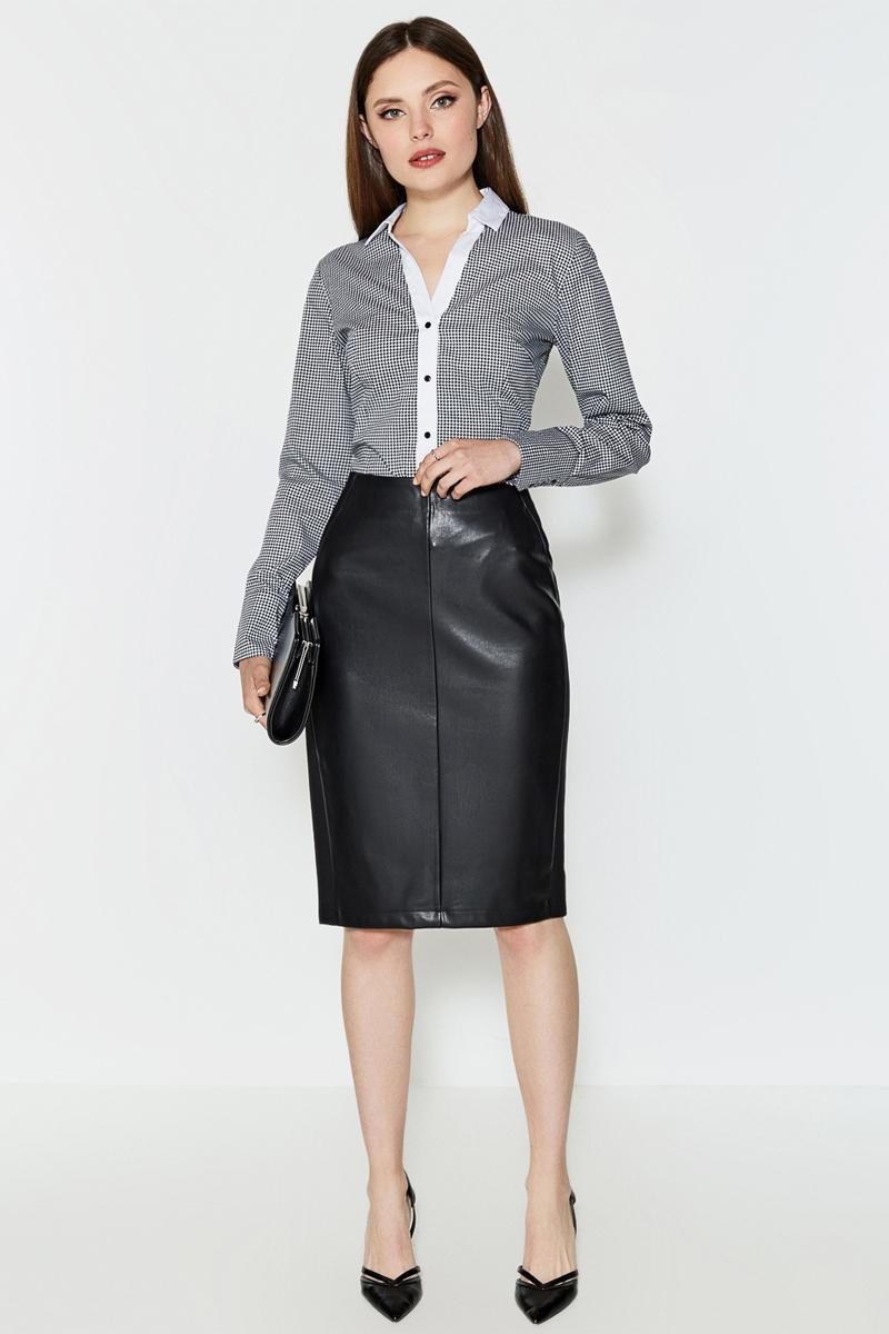 Юбка женская Concept Club Solo, цвет: черный. 10200180193. Размер S (44) юбка concept club concept club co037ewwde92