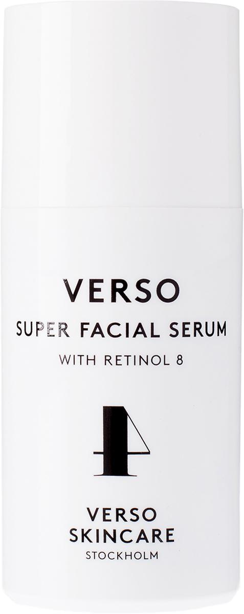 Verso Skincare Сыворотка для лица, 30 мл201204Сыворотка для лица стимулирует синтез коллагена, уменьшает признаки старения. Можно использовать как самостоятельно, так и совместно с кремами Verso. Высококонцентрированное средство для максимального улучшения текстуры кожи, уменьшения морщин и депигментации с высоким содержанием ретинола-8, стабилизированного комплекса витамина А, который в 8 раз эффективнее ретинола.