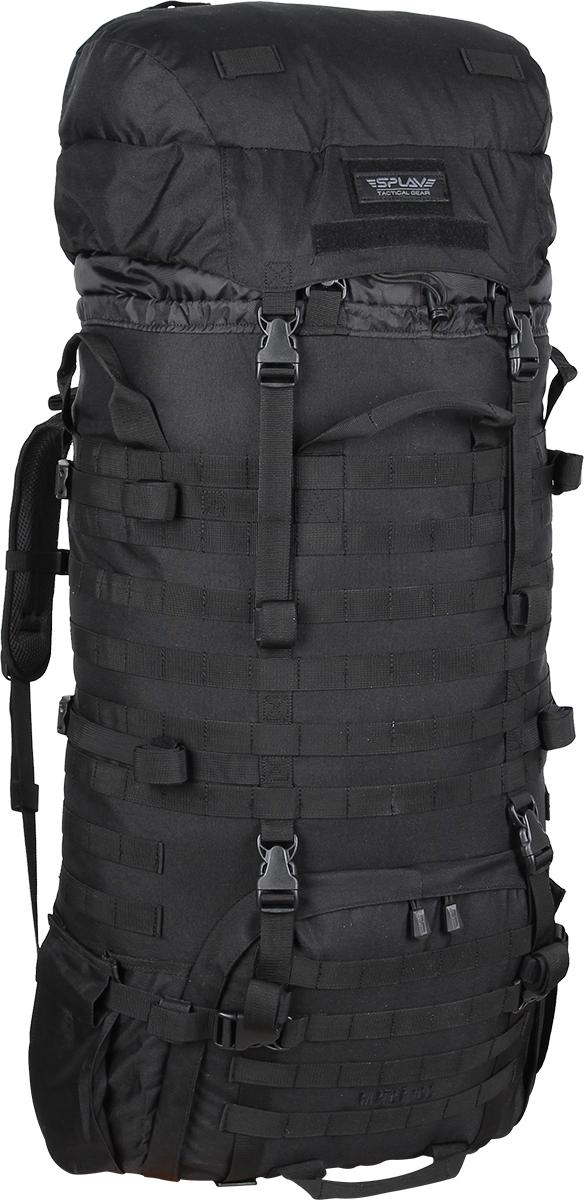 Рюкзак Сплав Raptor 100, цвет: черный5032240Рейдовый рюкзак для длительных переходов. Классическая туристическая модель, адаптированная для военного использования.Съемные, регулируемые по высоте лямки. Большая ширина, анатомический силуэт. Два слоя пены и сетка Airmesh для мягкости и вентиляции. Верхние оттяжки. Ячейки PALS для крепления подсумков выполнены методом лазерной резки в усиленной ткани, что обеспечивает лямкам тонкий профиль и плоскую поверхность, не мешая прикладке оружия.Cпинка рюкзака благодаря многослойной структуре имеет высокую жесткость и обеспечивает отличную вентиляцию. Внутри вертикальные карманы для съемных лат. Спина имеет правильную анатомическую форму.Единый полнообъемный силовой каркас из строп, усиленная конструкция нижнего крепления лямок.Вся свободная внешняя площадь рюкзака обшита стропами MOLLE.На передней части клапана липучка для шевронов, съемный логотип в комплекте.Съемный широкий пояс. Боковые оттяжки, ячейки MOLLE для навески подсумков.Нижние боковые карманы-упоры с регулировкой объема.Тубус с двумя утяжками и двумя компрессионными ремнями.Съемный регулируемый по высоте клапан.В комплект входит защитная накидка, расположенная в отдельном кармане клапана.Точки крепления дополнительного груза на дне и клапане. Объем: 100 л.Вес: 2,5 кг.Основное отделение (Ш?В?Т): 40?80?25 см.Карман на клапане (Ш?В?Т): 40?26?8 см.Основная ткань: Polyester 600D.Фурнитура: Duraflex