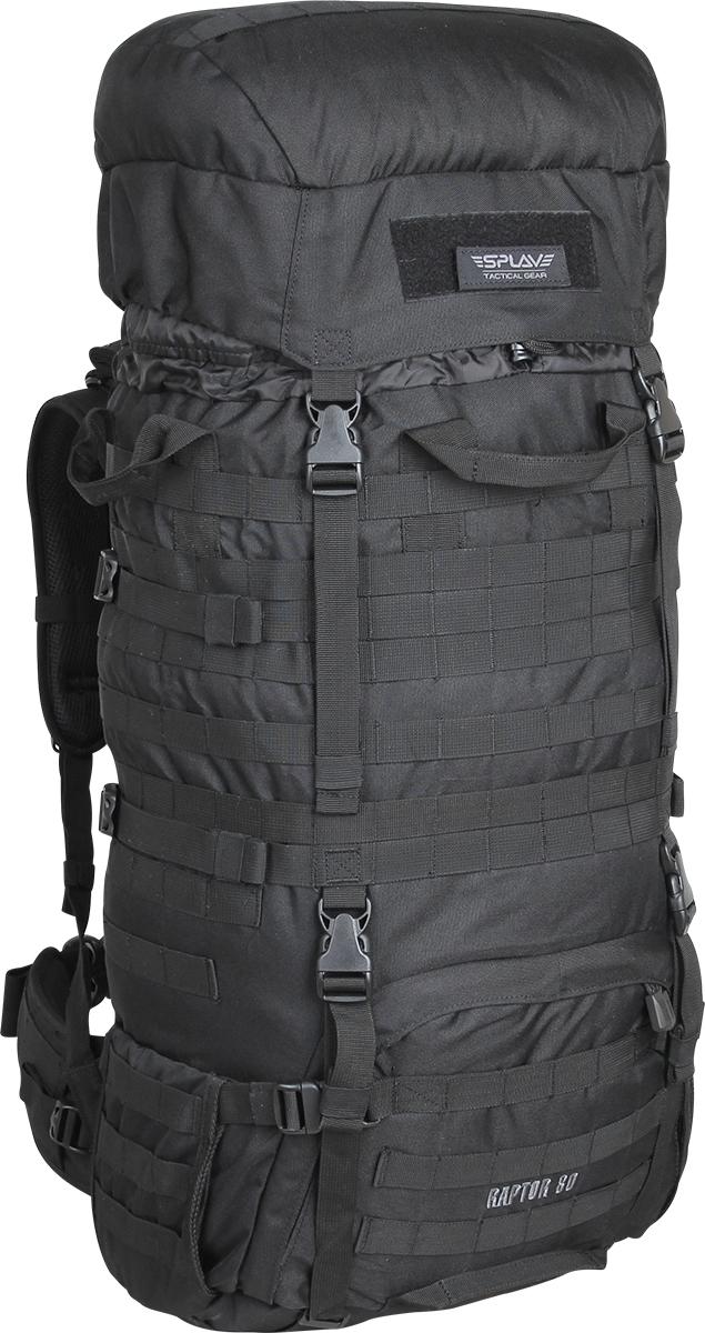 Рюкзак Сплав Raptor 80, цвет: черный5024040;5024040Рейдовый рюкзак для длительных переходов. Классическая туристическая модель, адаптированная для военного использования. Съемные, регулируемые по высоте лямки. Большая ширина, анатомический силуэт. Два слоя пены и сетка Airmesh для мягкости и вентиляции. Верхние оттяжки. Ячейки PALS для крепления подсумков выполнены методом лазерной резки в усиленной ткани, что обеспечивает лямкам тонкий профиль и плоскую поверхность, не мешая прикладке оружия. Cпинка рюкзака благодаря многослойной структуре имеет высокую жесткость и обеспечивает отличную вентиляцию. Внутри вертикальные карманы для съемных лат. Спина имеет правильную анатомическую форму. Единый полнообъемный силовой каркас из строп, усиленная конструкция нижнего крепления лямок. Вся свободная внешняя площадь рюкзака обшита стропами MOLLE. На передней части клапана липучка для шевронов, съемный логотип в комплекте. Съемный широкий пояс. Боковые оттяжки, ячейки MOLLE для навески подсумков. Нижние боковые карманы-упоры с регулировкой объема. Тубус с двумя утяжками и двумя компрессионными ремнями. Съемный регулируемый по высоте клапан. В комплект входит защитная накидка, расположенная в отдельном кармане клапана. Точки крепления дополнительного груза на дне и клапане. Объем: 80 л. Вес: 2,5 кг. Основное отделение (Ш?В?Т): 40?80?24 см. Карман на клапане (Ш?В?Т): 35?26?7 см. Основная ткань: Polyester 600D. Фурнитура: DuraflexЧто взять с собой в поход?. Статья OZON Гид
