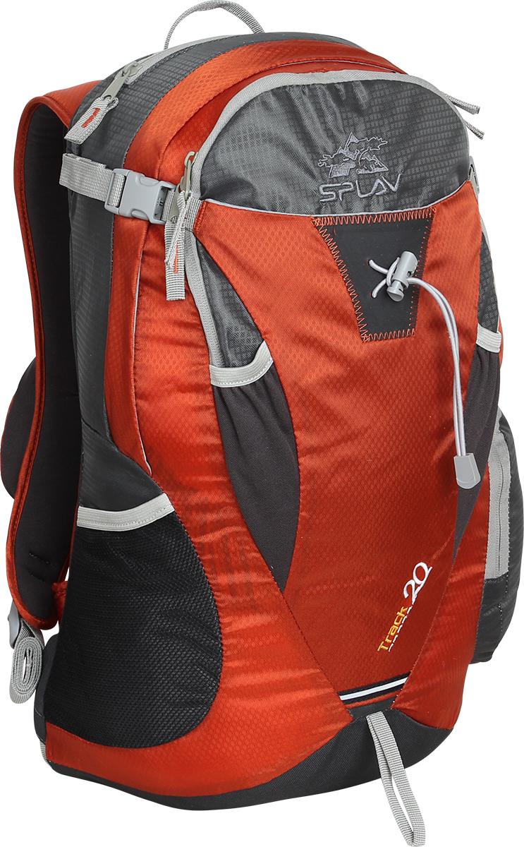 Рюкзак городской Сплав Rox, цвет: оранжевый, 20 л5022300Легкий функциональный городской рюкзак Сплав Rox выполнен в спортивном стиле.Вход в основное отделение застегивается на застежку-молнию.Спинка с интегрированным упругим стальным каркасом обеспечивает отличную вентиляцию и дает необходимую жесткость конструкции.Перед рюкзака дополнен открытым карманом, который фиксируется фастами.Фронтальный карман дополнен внутренним органайзером для мелочей.Точка крепления треккинговых палок или ледоруба.Маленький карман в верхней части рюкзака отделан мягким трикотажем.Широкая лямка рюкзака дополнена небольшим накладным кармашком.Возможна установка питьевой системы (в комплект не входит). Объем: 20 л.Вес: 1,0 кг.