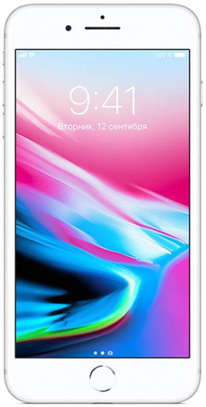 Apple iPhone 8 Plus 64GB, SilverMQ8M2RU/AiPhone 8 Plus - это новое поколение iPhone. Впервые передняя и задняя панели iPhone выполнены из стекла. Самая популярная камера усовершенствована. Установлен самый умный и мощный процессор, когда-либо созданный для iPhone. Без проводов процесс зарядки становится элементарным. А дополненная реальность открывает невиданные до сих пор возможности.Такого прочного стекла с обеих сторон у iPhone ещё не было. Рамка в тон корпусу выполнена из алюминия, применяемого в аэрокосмической отрасли. Благодаря продуманному инженерному решению корпус iPhone 8 Plus отлично защищён от воды, брызг и пыли. Олеофобное покрытие позволяет легко избавиться от пятен и отпечатков пальцев.Благодаря продуманному инженерному решению корпус iPhone 8 Plus отлично защищён от воды, брызг и пыли.Apple всегда хотела сделать iPhone полностью беспроводным: никаких кабелей или проводов от наушников. iPhone 8 Plus с задней панелью из стекла и поддержкой беспроводной зарядки готов к беспроводному будущему.Обновлённые стереодинамики iPhone 8 Plus стали до 25% громче и отлично воспроизводят глубокие басы. Увеличьте громкость и оцените потрясающее звучание музыки, видео и звонков по громкой связи.Технология Touch ID позволяет защитить информацию идеальным паролем - вашим отпечатком пальца. Вы можете мгновенно разблокировать телефон и войти в любимые приложения. Touch ID поддерживает функцию Apple Pay, которая позволяет оплачивать покупки в магазинах, приложениях и на веб-сайтах.Изображение на дисплее Retina HD стало ещё точнее и красивее. Новый дисплей поддерживает расширенный цветовой охват, технологии True Tone и 3D Touch. Технология True Tone автоматически настраивает баланс белого с учётом освещения. Чтобы радовать глаз в любом случае.Благодаря новой матрице передовые технологии фотосъёмки становятся доступнее - теперь каждый может снимать прекрасные фото и видео без дополнительных настроек. Кроме того, камера iPhone 8 Plus позволяет полностью погрузиться в захваты