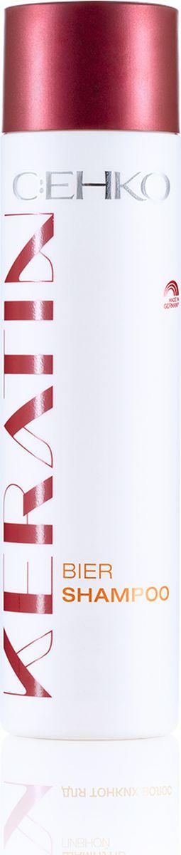 C:EHKO Keratin Шампунь пивной для тонких волос, 250 мл3102553Шампунь пивной с кератином, облепихой и пивом укрепляет структуру волос уже во время их мытья.