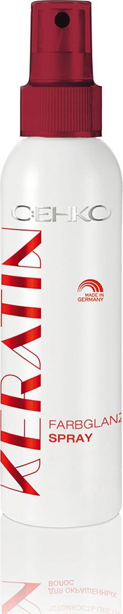 C:EHKO Keratin Спрей Стойкость цвета для окрашенных волос, 150 мл3103453Спрей Стойкость цвета с кератином, экстрактом грецкого ореха, пантенолом и УФ-фильтром продлевает надолго стойкость окраски. Специальная формула с экстрактом грецкого ореха и УФ-фильтром препятствует воздействию УФ-лучей и сохраняет интенсивность цвета волос. Пантенол увлажняет волосы и облегчает их расчесывание. Ваши волосы приобретают яркий переливающийся блеск.
